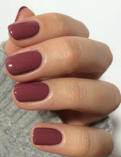 Very well done red nail polish