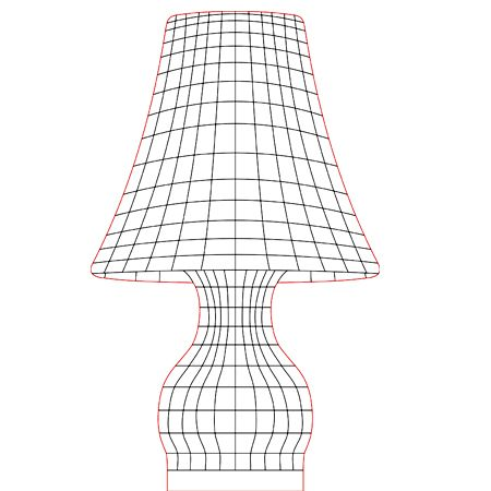 Table Lamp 2 3d Illusion Lamp Vector File For Laser And Cnc 3bee Studio 3d Illusion Lamp 3d Illusions Illusions