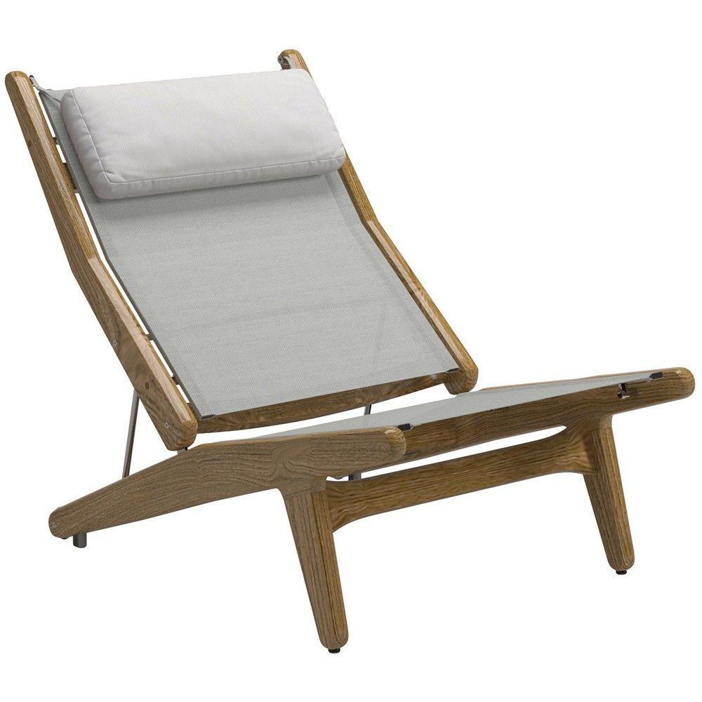 Gloster Bay Teak Outdoor Reclining Chair 7910 1 364 00
