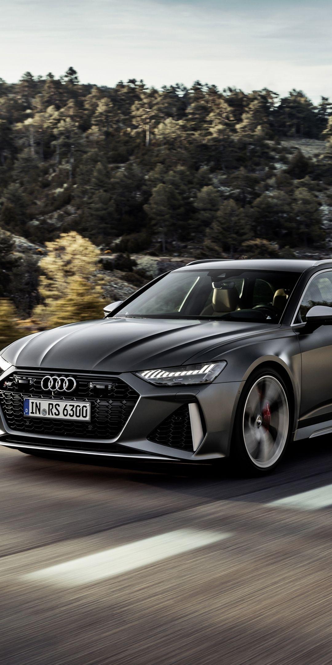 2020 Audi Rs6 Avant Black Car 1080x2160 Wallpaper Black Car Wallpaper Black Audi Audi Rs6