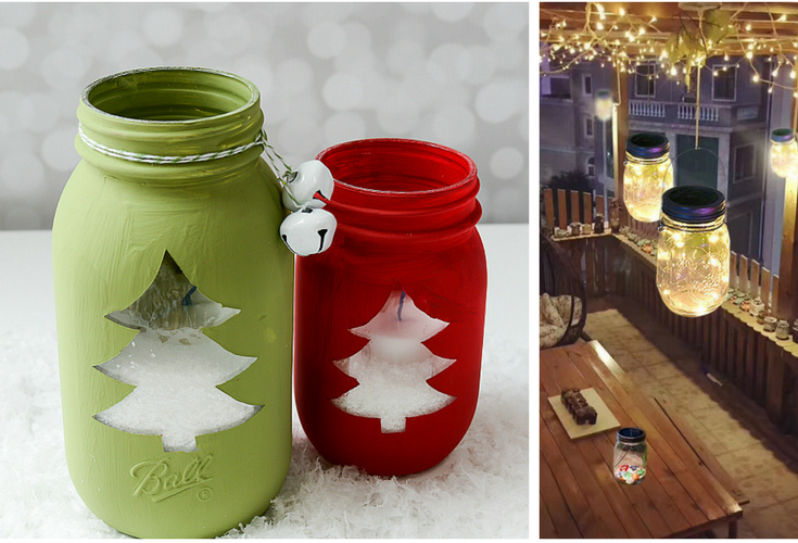 best mason jar christmas decorations color and style