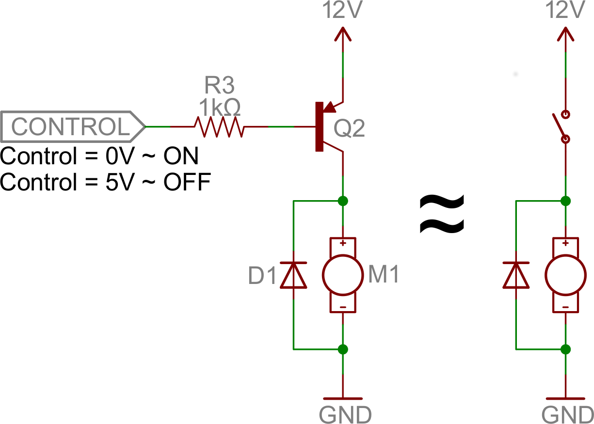 Pnp Switch Example With Images Electronics Basics Transistors