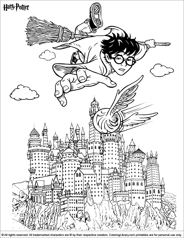 Nerdy image within harry potter coloring pages printable