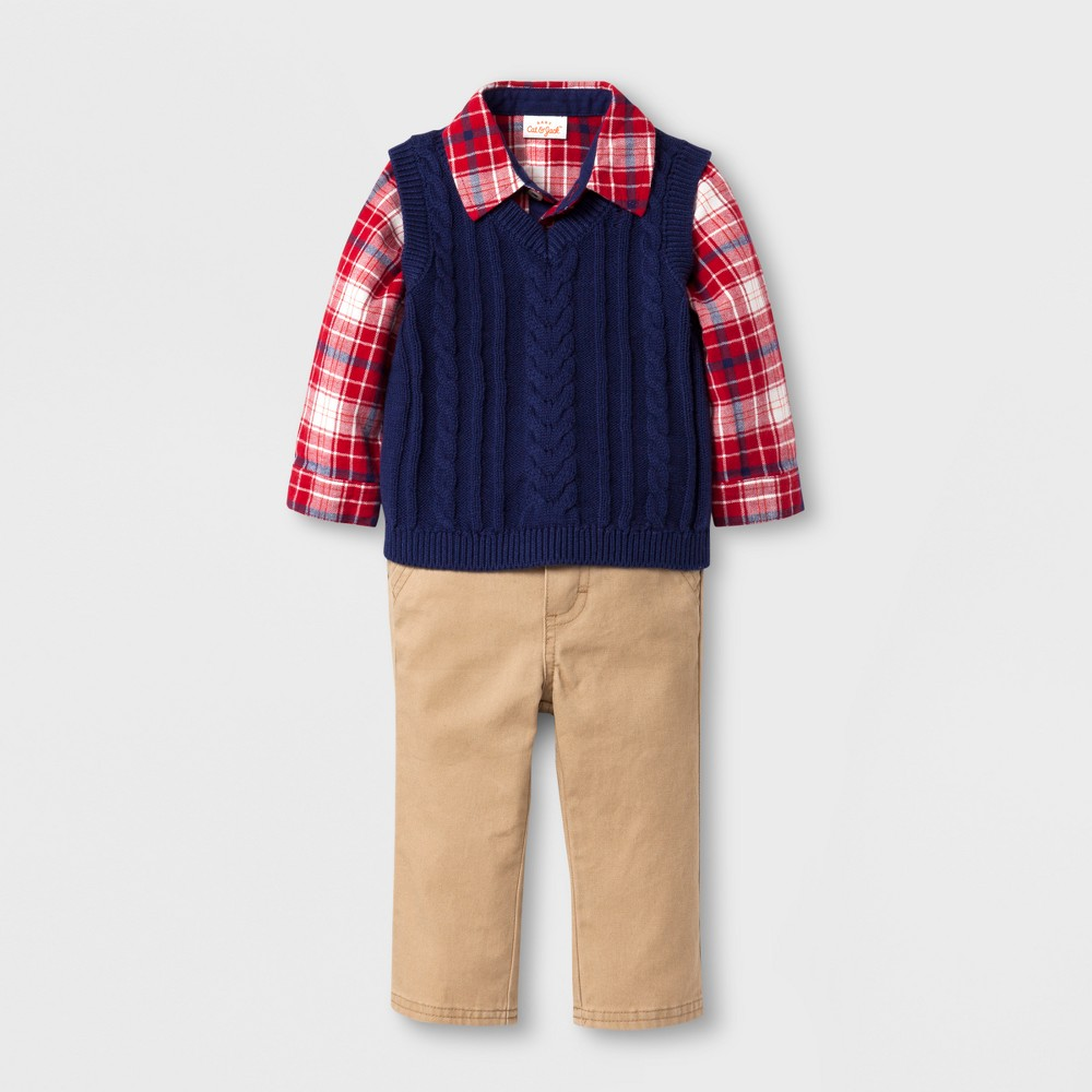 e6923a32074c Baby Boys  3-Piece Flannel