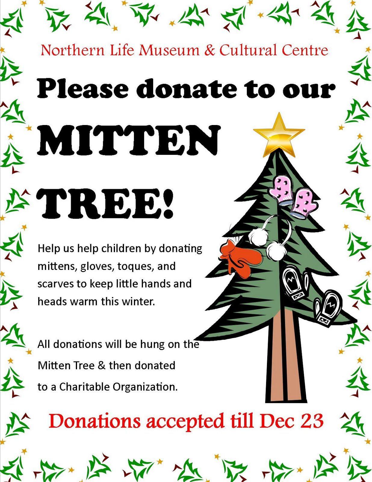 mitten tree donations Happy Holidays Everyone