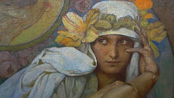 Art Nouveau Poster ALPHONSE MUCHA The Artist/'s Daughter Jaroslava 1920/'s