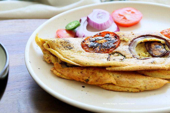 Chickpea Flour Vegan Omelet Fluffy Chickpeas Flour Omelette