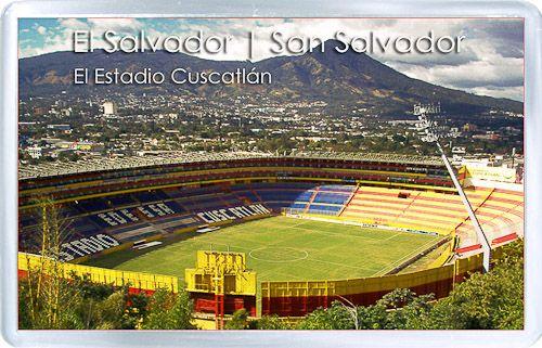 Acrylic+Fridge+Magnet%3A+El+Salvador.+%EF%BB%BFSan+Salvador.+Cuscatlan+Stadium #elsalvadorfood
