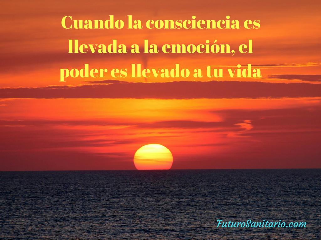 Cuando la consciencia es llevada a la emoción, el poder es llevado a tu vida.  www.futurosanitario.com #futurosanitario #pilarlopez #cursos #formaciones