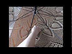 Как подготовить остов зонта и выполнить укрепление кружевного полотна