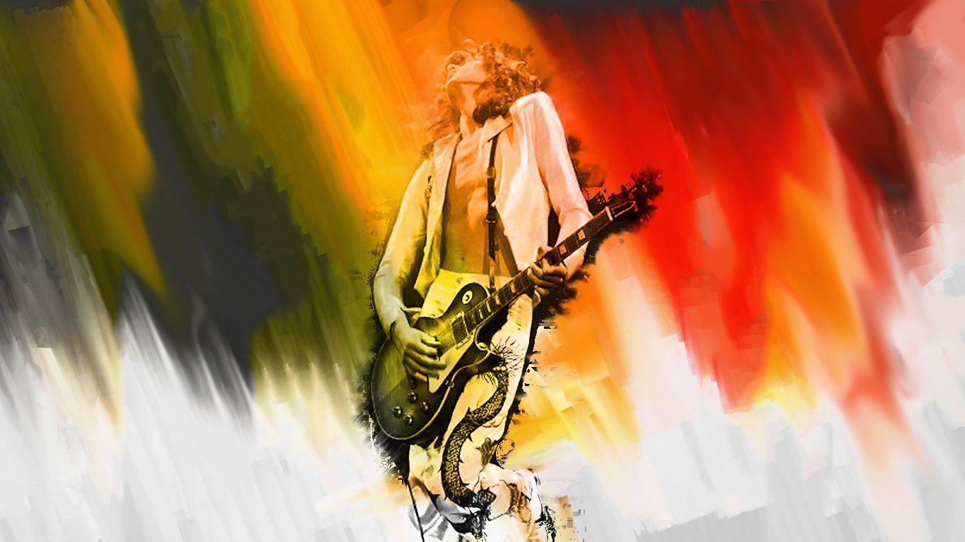 Jimmy Page Hd Wallpapers For Desktop Zeppelin Art Led Zeppelin Art Wallpaper