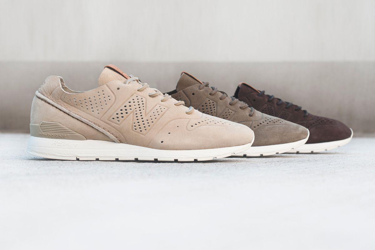 new balance leather beige