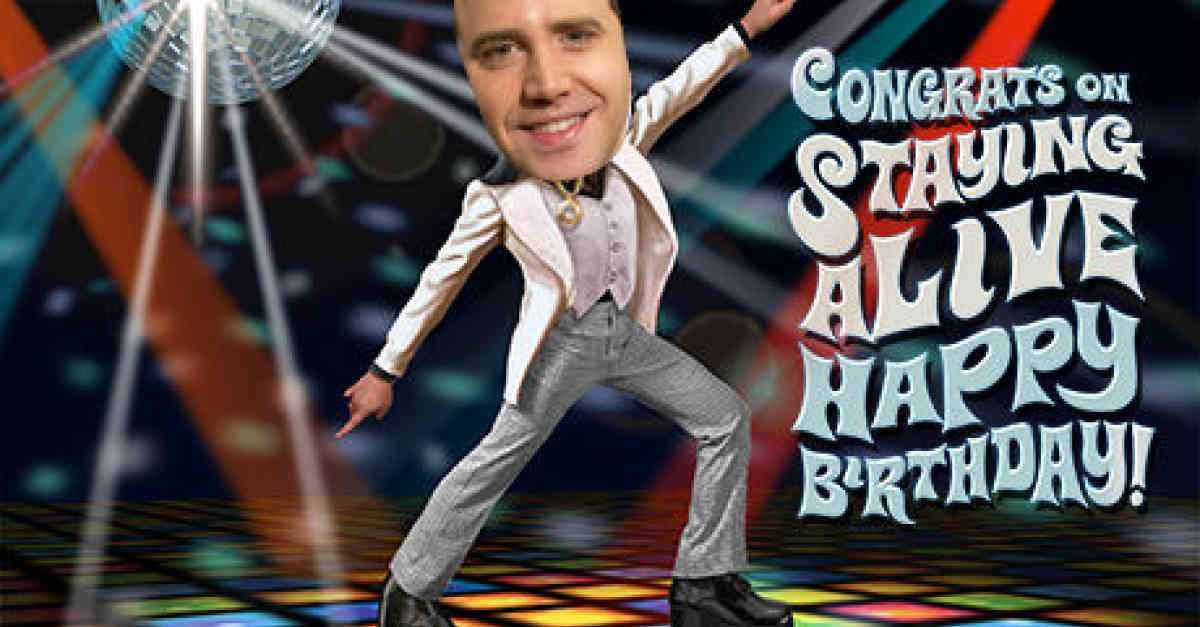 Take your friend back to the age of hot dance moves and polyester – Free Jibjab Birthday Card