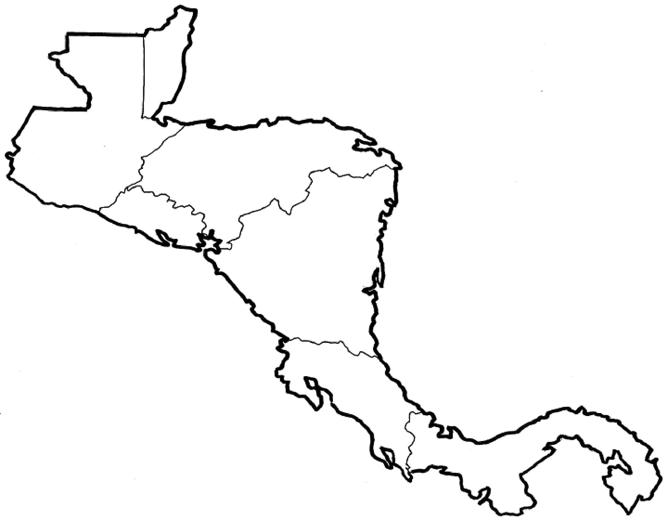 Complicated Map Of Latin America No Labels Map Of Mexico