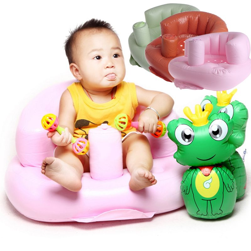 Baby Bath Seat Dining Chair Inflatable Sofa Pushchair Portable Kids ...