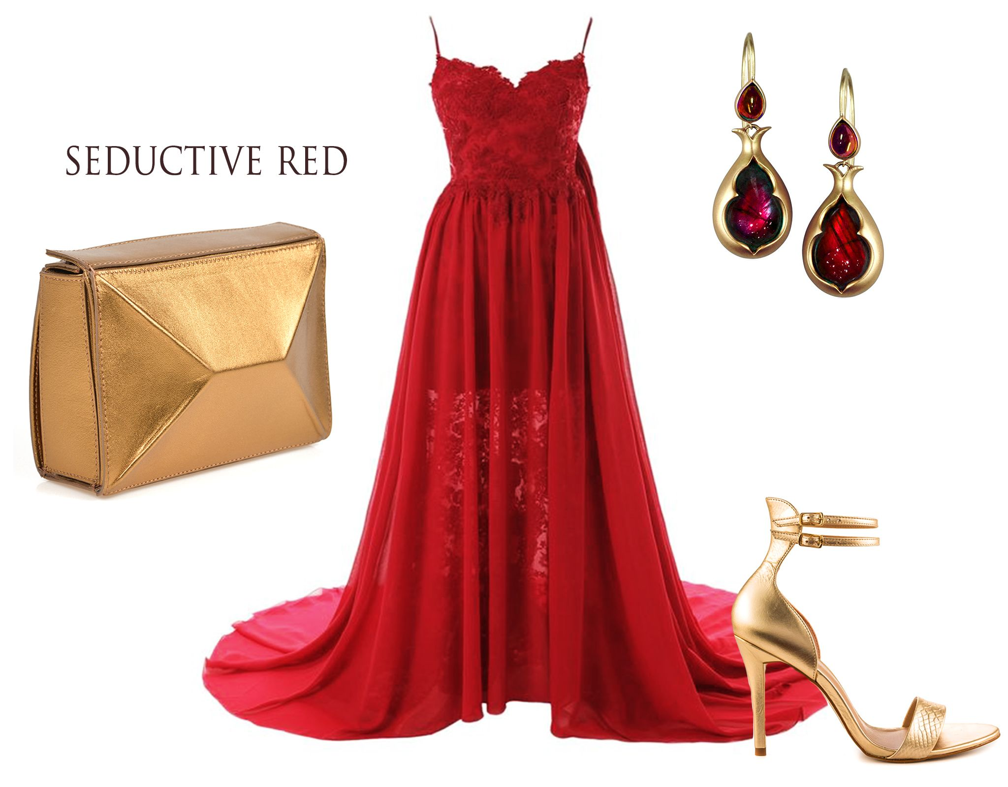 Every elegant dress needs to be combined with the perfect luxury accessory. Evening red dresses go wonderfully with leather clutches with metallic effects. The Sofia golden clutch can offer your amazing look a remarkable refinement.