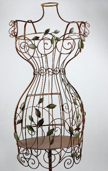 Bird Cage Mannequin with Leaves | Dress forms | Pinterest ...