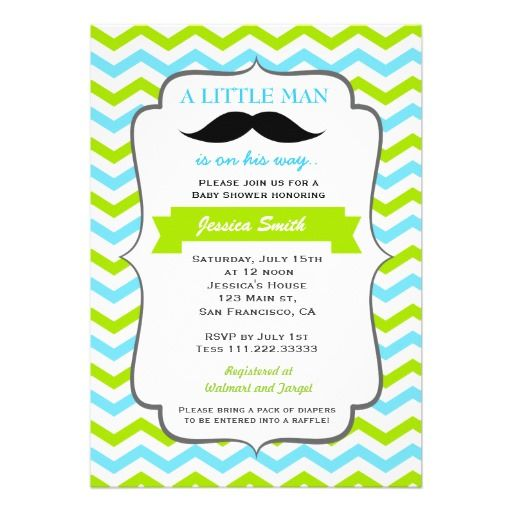 Mustache Baby Shower Invitation Boy Baby Shower Invitations