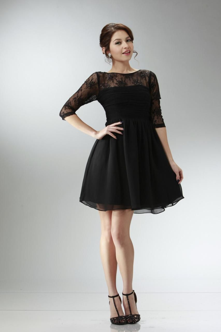 Long sleeve cocktail dresses juniors | Color dress | Pinterest ...