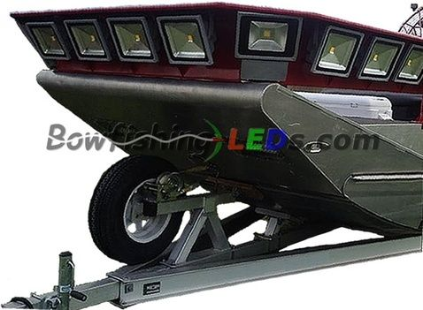 Bowfishingled Com Leds For Bowfishing 12v 24v Led Flood Lights Bowfishing Fishing Boats Bass Boat