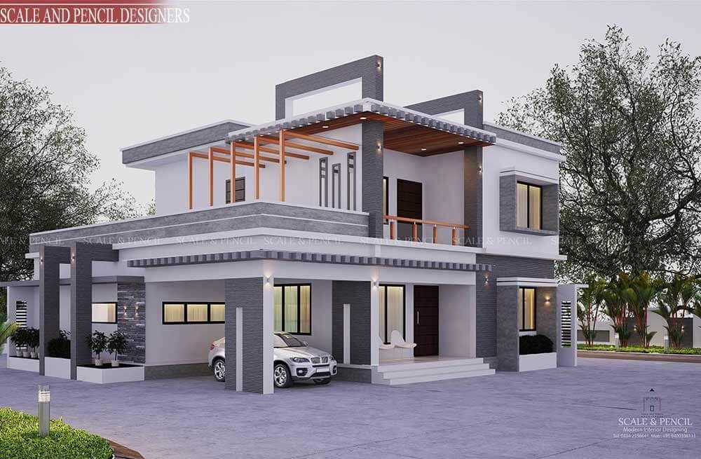 Exterior Home Design Kochi Ernakulam Exterior House Designs