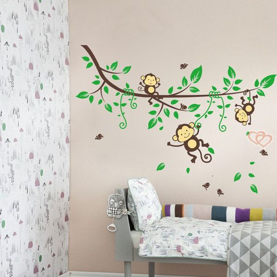 baby nursery wall decals Monkey on the Tree Wall decal by ...