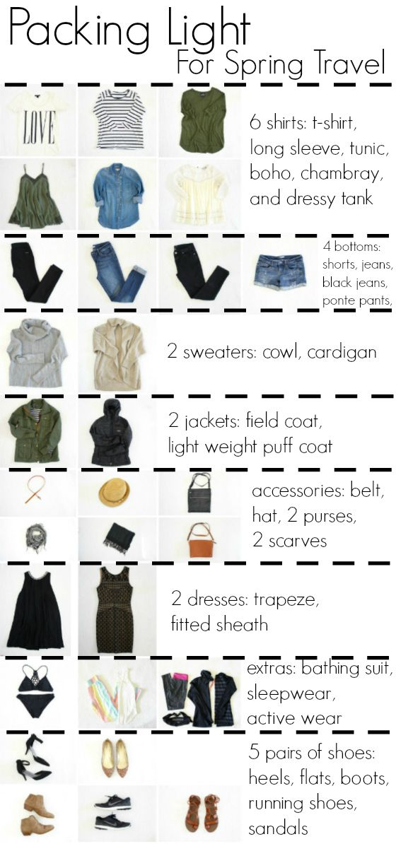 packing light for spring international travel (The Pleated