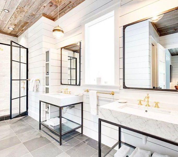 Modern Farmhouse Bathroom: Claw Foot Tub Bathroom!!!