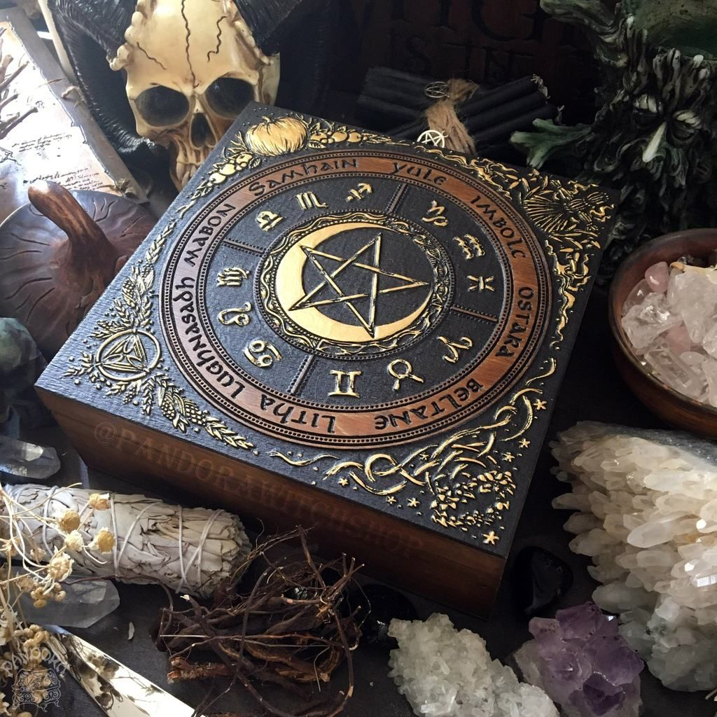 Box wheel of the year in 2020 witch decor book of