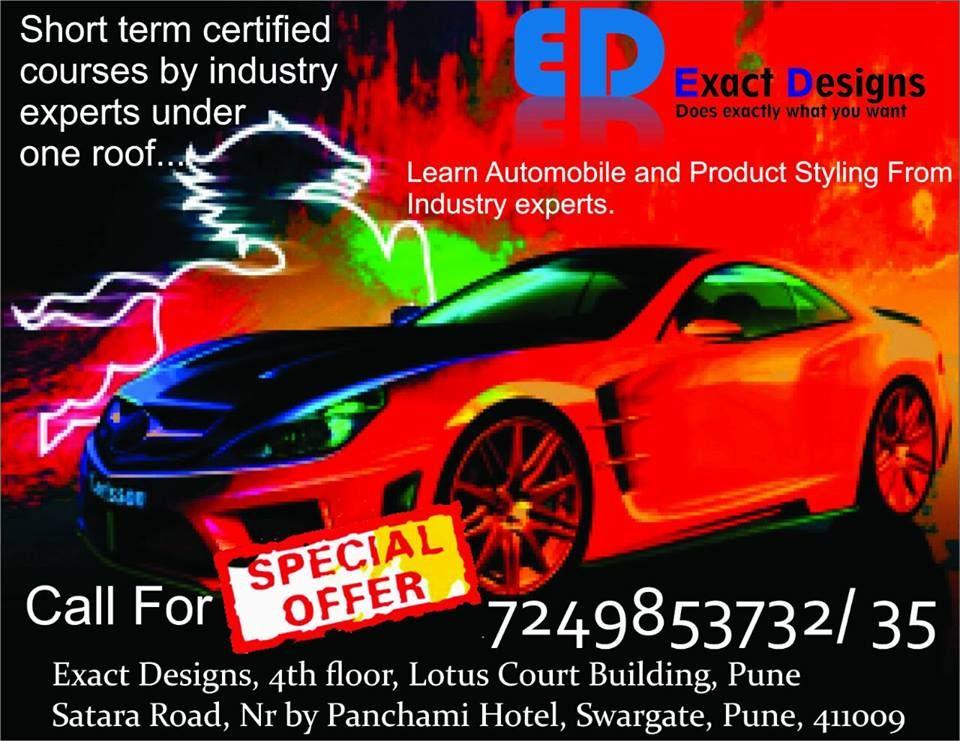 Learn Advance Autodesk Alias Training Exact Designs Training Institute India S Top Training Institute Lea Autodesk Automotive Design Design Course