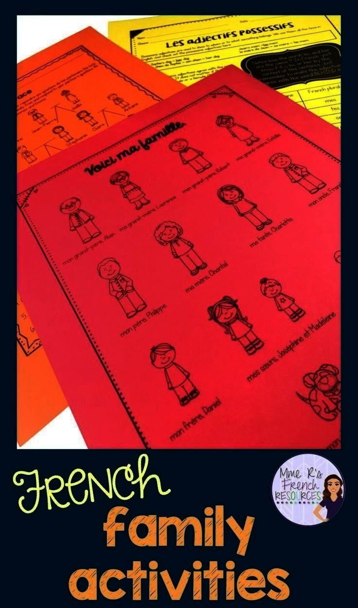 verb worksheets and packets - Mme R's Blog Posts -French vocabulary and verb worksheets and packets