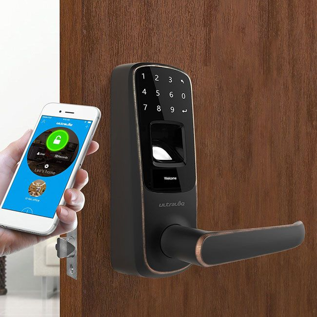 Ultraloq Ul3 Bt Touchscreen Smart Lock Smart Door Locks Smart Lock Smart Home Automation