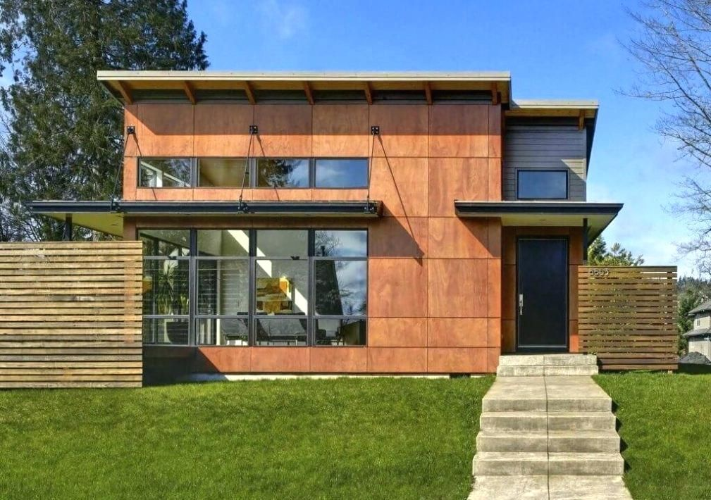 Faux Wood Siding Panels Engineered Large Image For Vertical Exterior Parklex Architectura Exterior Design Architecture Architecture House