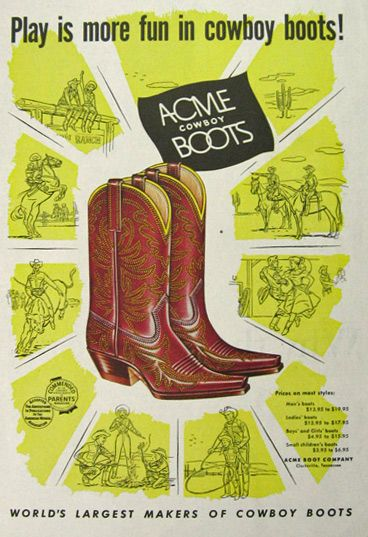 acme boots advertisement