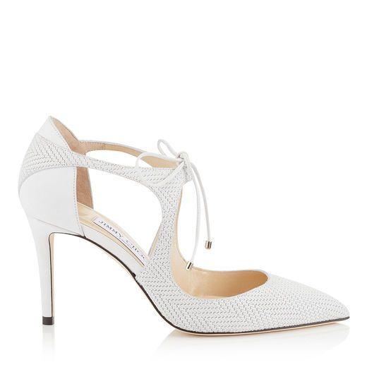 caacba75766e JIMMY CHOO VANESSA 85 Latte Knit Embossed Nubuck Pointy Toe Pumps.   jimmychoo  shoes