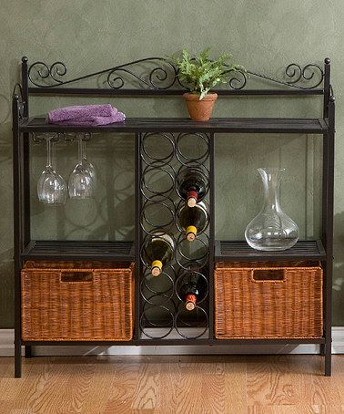 Look at this #zulilyfind! Gunmetal Gray Celtic Wine & Baker's Rack by Southern Enterprises #zulilyfinds