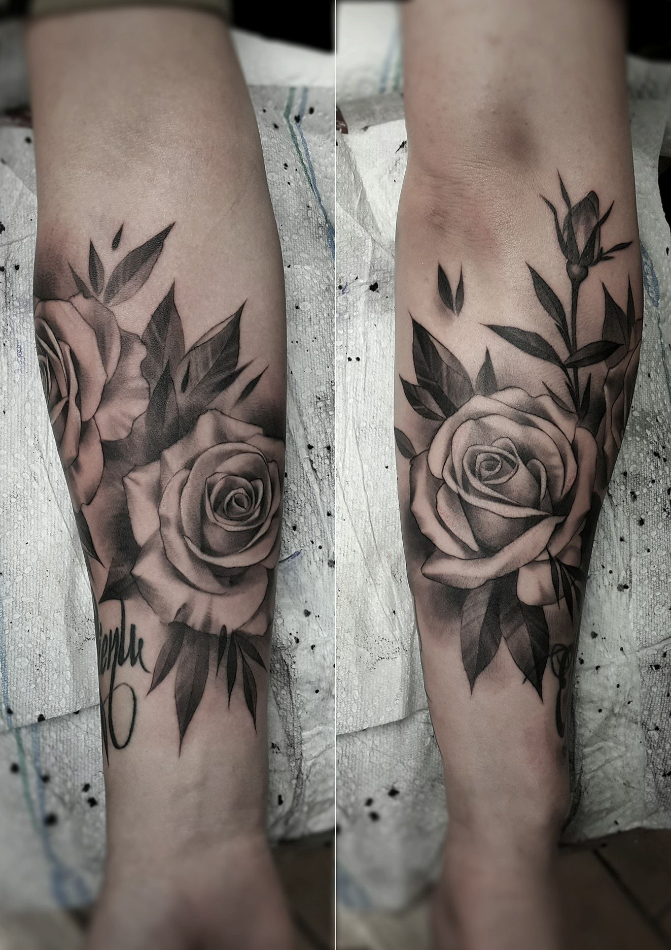 Black and gray rose tattoo artist janissvars rose for Tattoo design black and gray