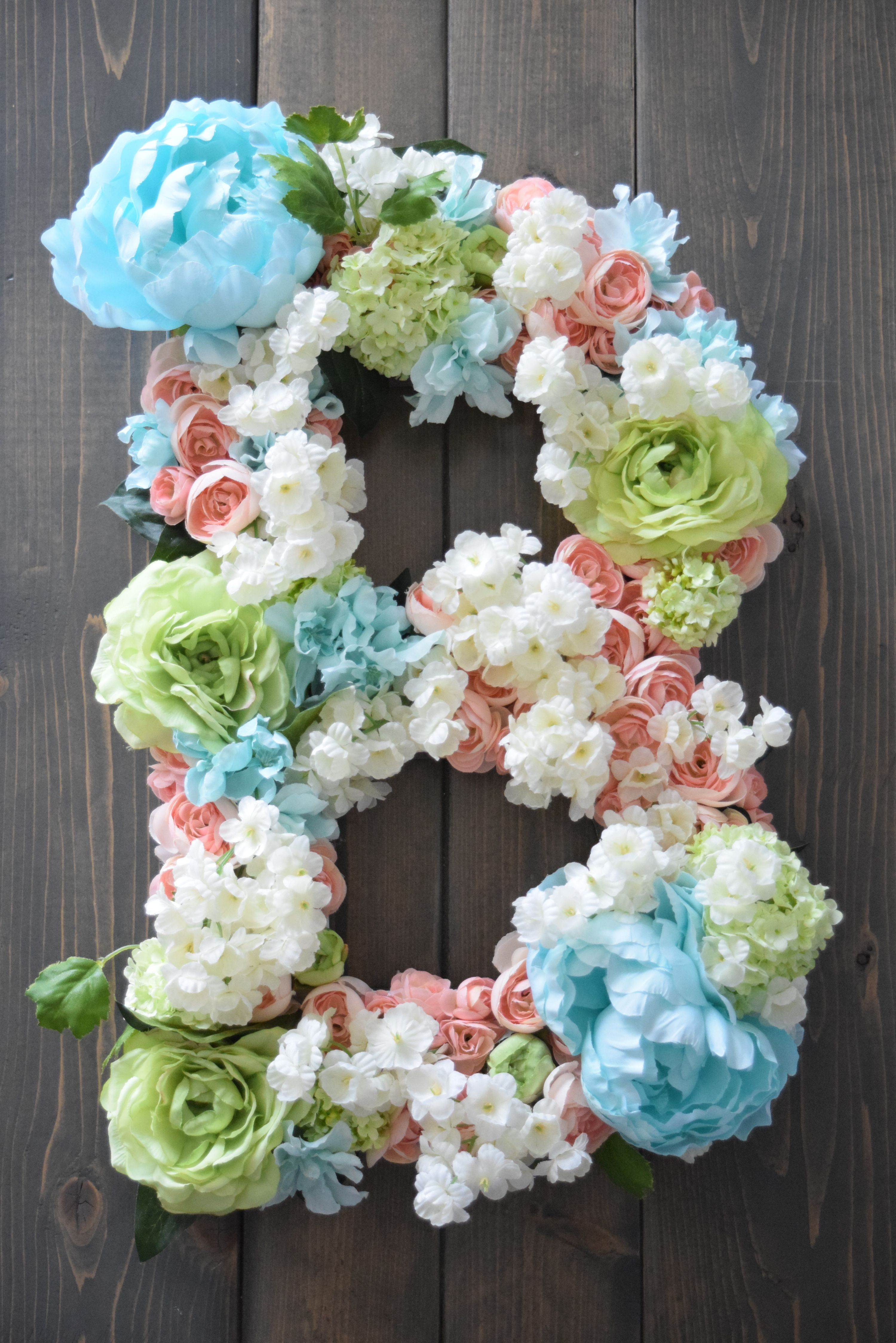 Bailey Begonia On Etsy Large Flower Letter Large Flower Letter