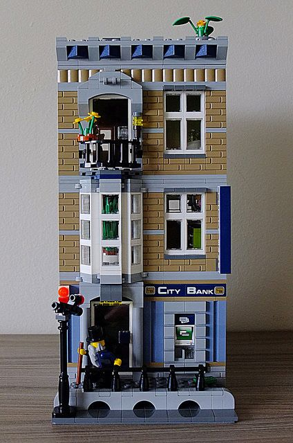 Brickyboy Version Of Legos City Bank Lego Custom Lego Lego