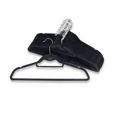 Plenty Of Hangers To Organize Your Wardrobe Black Bedding