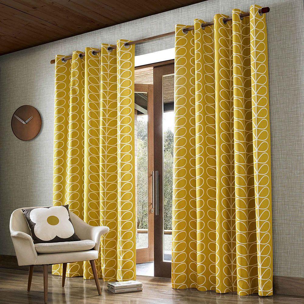 Linear stem eyelet curtains dandelion xcm in