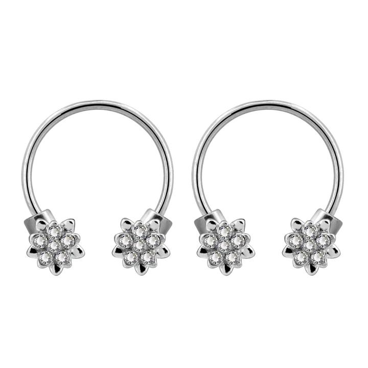 316l Surgical Steel 2 Piece Multi Functional Cartilage Helix Daith Earring Set Geode Earrings Daith Earrings Jewelry