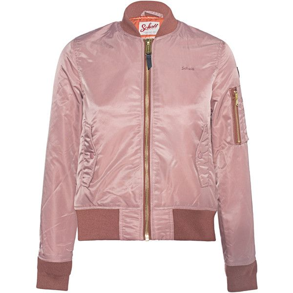 Schott NYC Bomber Rosewood Bomber jacket (€219) ❤ liked