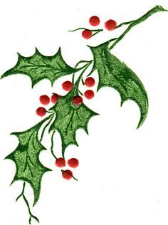 Holly Leaves Image 2 Christmas Drawing Watercolor Christmas