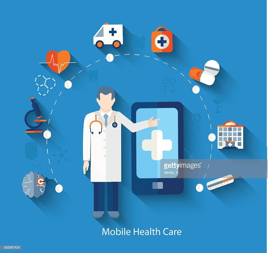 Mobile phone mobility healthcare and medicine emergency