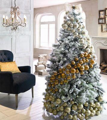 decorar arbol de navidad con adornos blancos buscar con google