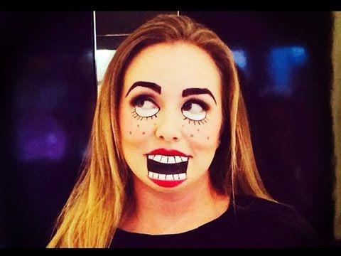 Puppet Halloween Makeup - YouTube Doll makeup for Halloween! Quick - halloween makeup ideas easy