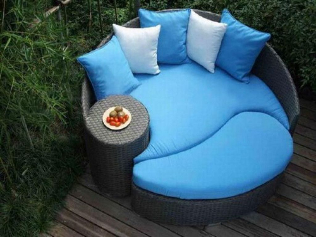 furniture round patio daybed design idea without canopy black wicker outdoor daybed frame with tablet