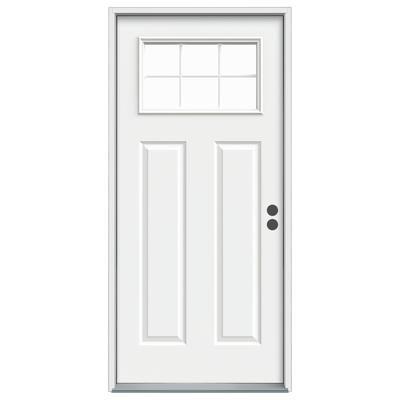 Jeld Wen Windows Doors 36x7 1 4 Craftsman Entry Door Left Hand D00035 Home Depot Canada