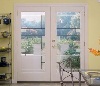 Masonite S Belleville Patio Mondrian Gl Doors Use Spectraweld And A Light Ceramic Coating To Create Cubist Pattern That Is Balanced Symmetrical